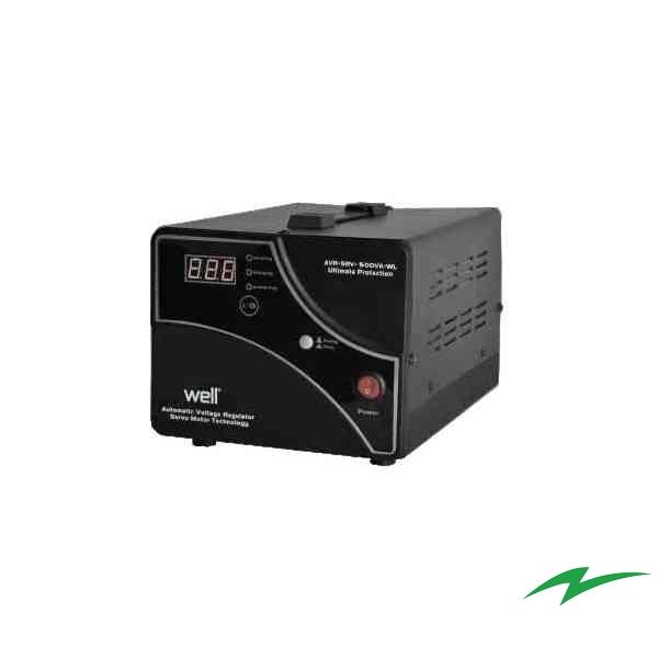 Stabilizator tensiune cu servomotor WELL-500VA (300W)