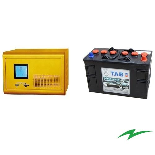 Sursa UPS pentru centrale termice 1000W plus Baterie semitractiune 12V 105Ah