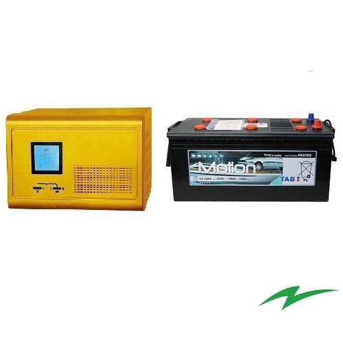 Sursa UPS pentru centrale termice 1000W plus Baterie semitractiune 12V 225Ah