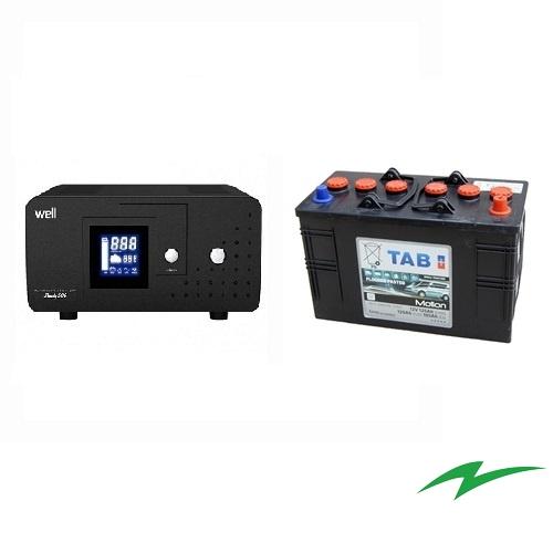 Sursa UPS pentru centrale termice 800VA plus Baterie semitractiune 12V 105Ah