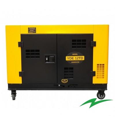 Generator insonorizat Stager YDE12TD, monofazat