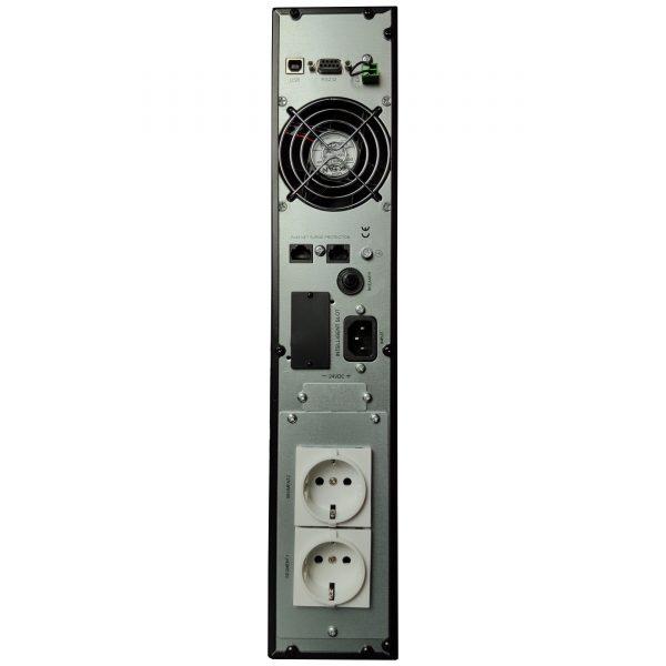 Sursa UPS online rack LARICE 1000VA 900W back